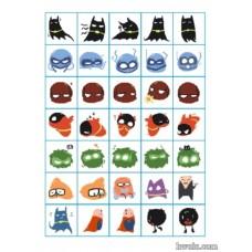 DC超级英雄 batfam 蝙蝠侠/罗宾 团子系列 PVC贴纸