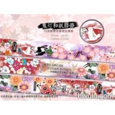 嵐星人-鬼灯-和紙膠帶 白澤友禪風白兔款