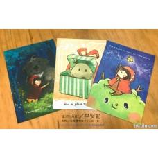 a.m.Ani/早安妮:黑熊.小紅帽.禮物套卡(三款一套)